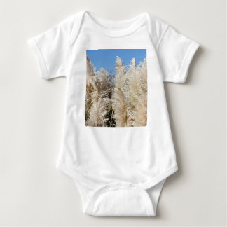 Pampas Grass with a Sunny Blue Sky Baby Bodysuit