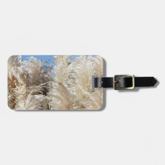 Pampas Grass with a Sunny Blue Sky Luggage Tag