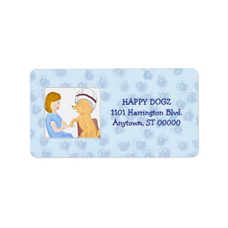 Pampered Poodle Grooming Business Address Labels