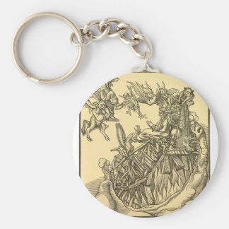 Pamphlet Against the Papacy in Rome Founded by the Basic Round Button Key Ring