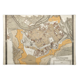 Pamplona Spain 1882 Placemat