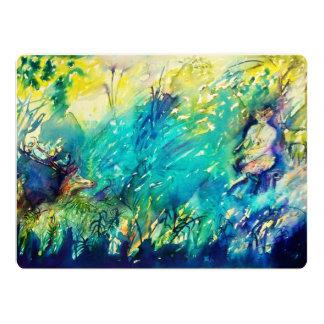 PAN AND DEER IN GREEN WOODS CARD