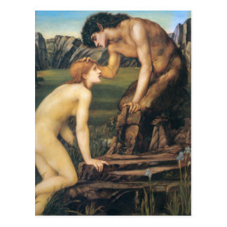 Pan and Psyche - Edward Burne-Jones Post Cards