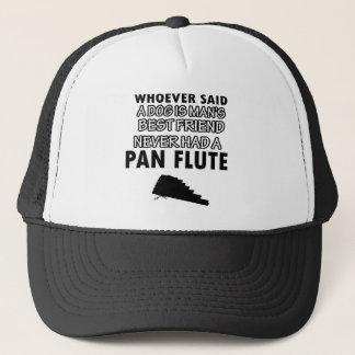 Pan Flute musical instrument Trucker Hat
