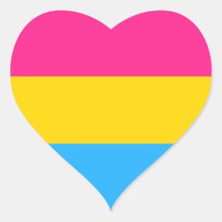 Pan Pride Heart Sticker