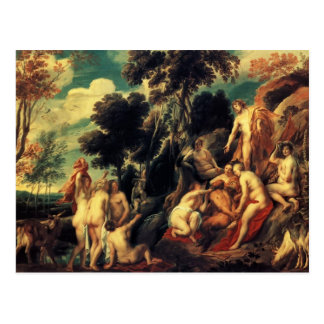 Pan punished by the Nymphs by Jacob Jordaens Postcard
