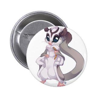 """""""Pan"""" Sugar Glider 6 Cm Round Badge"""