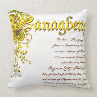 Panagbenga Festival in Elegant Flowery Design Throw Pillow
