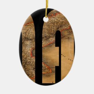 panama1864 ceramic ornament