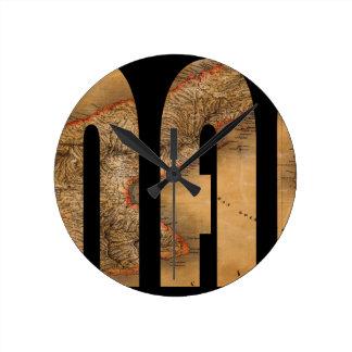 panama1864 round clock