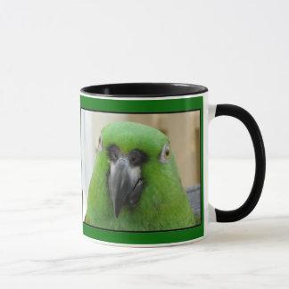 Panama Amazon Green Parrot mug