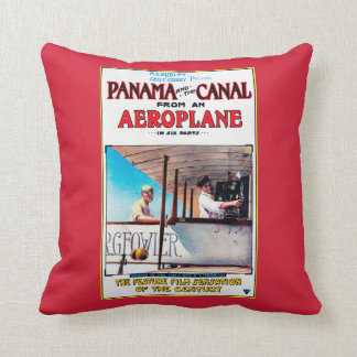 Panama and the Canal Aeroplane Movie Promo Poste Cushion