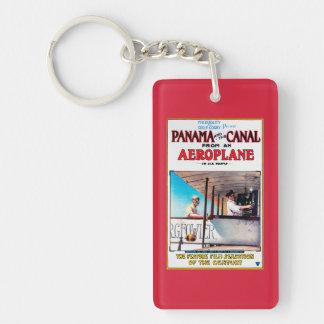 Panama and the Canal Aeroplane Movie Promo Poste Double-Sided Rectangular Acrylic Key Ring