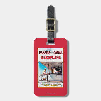 Panama and the Canal Aeroplane Movie Promo Poste Luggage Tag