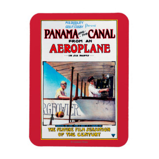 Panama and the Canal Aeroplane Movie Promo Poste Magnet