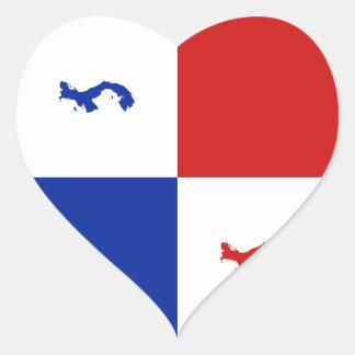 Panama Banner Heart Sticker