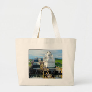 Panama Canal Large Tote Bag