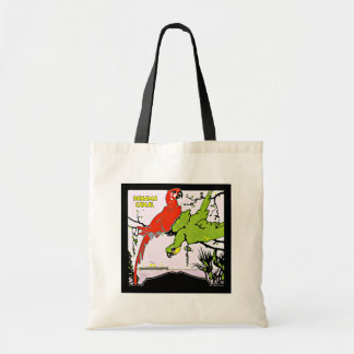 Panama Canal Macaws Vintage Travel Budget Tote Bag
