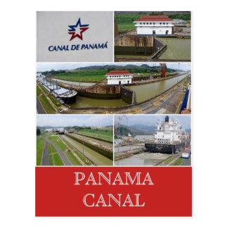 panama canal miraflores locks postcard