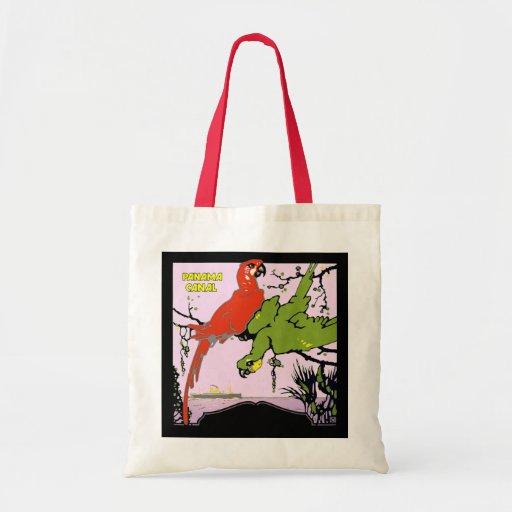 Panama Canal Parrots Canvas Bag
