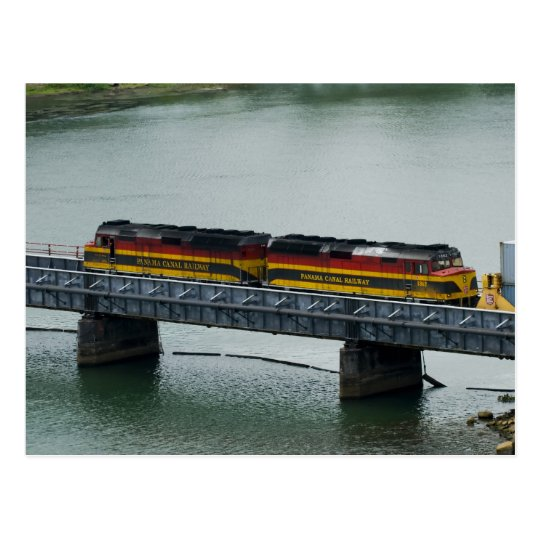 Panama Canal Train Postcard