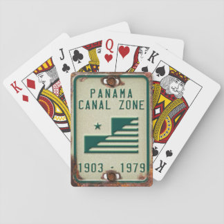 Panama Canal Zone License Plate Playing Cards