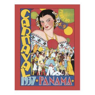 Panama Carnaval 1937 Postcard