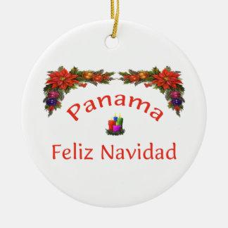 Panama Christmas 1 Ceramic Ornament
