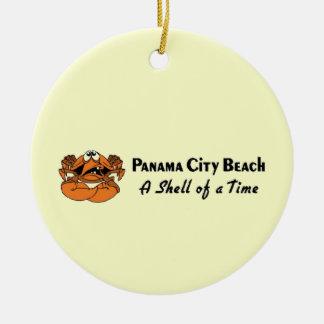 Panama City Beach Crab Ceramic Ornament