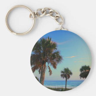 Panama City Beach, Florida palm trees Keychains