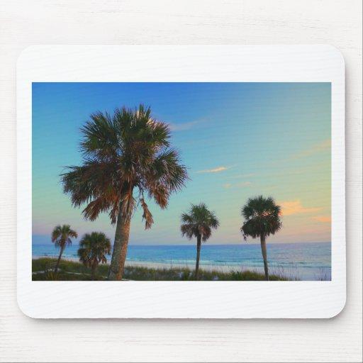 Panama City Beach, Florida palm trees Mouse Pad