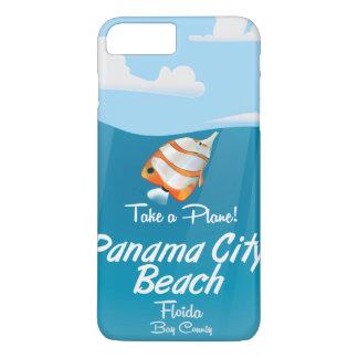 Panama City Beach Florida vintage travel poster. iPhone 7 Plus Case