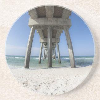 Panama City Beach Pier Beverage Coaster