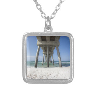 Panama City Beach Pier Silver Plated Necklace