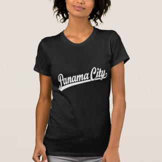 Panama City script logo in white T-Shirt