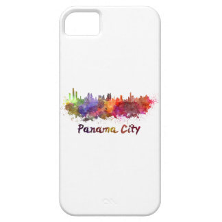 Panama City skyline in watercolor iPhone 5 Case