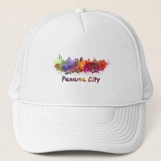 Panama City skyline in watercolor Trucker Hat