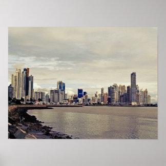 Panama City Skyline Poster