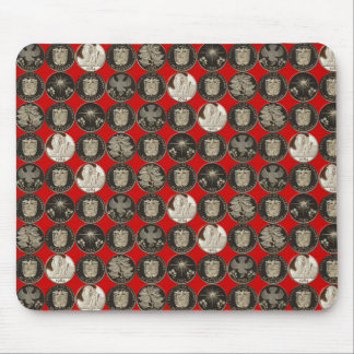 Panama Gold Coin Red Mousepad