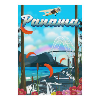 Panama River vacation print