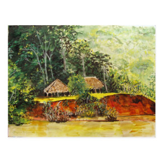 Panama Watercolor Postcard