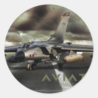 Panavia Tornado Jet Fighter Classic Round Sticker