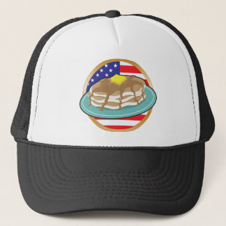 Pancake American Flag Trucker Hat