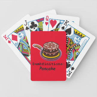Pancake  Dumbfinitions Bicycle Playing Cards