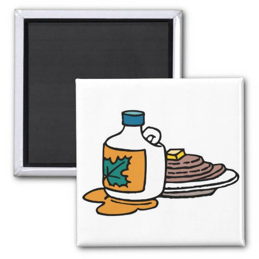 pancakes and maple syrup magnet