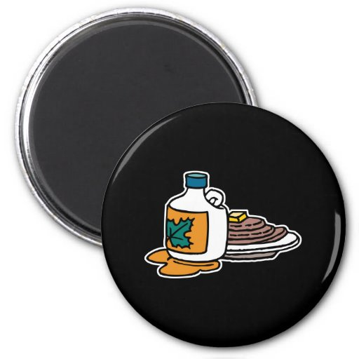 pancakes and maple syrup fridge magnet