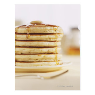 Pancakes and Melting Maple Syrup Postcard