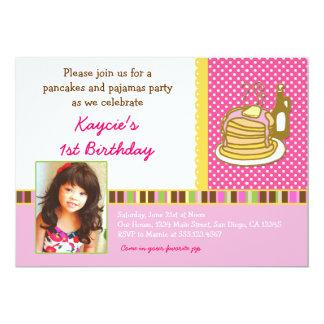 Pancakes and Pajamas Birthday Invitation Photo