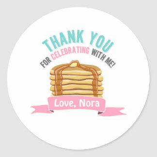 Pancakes and Pajamas Thank You Birthday Tags