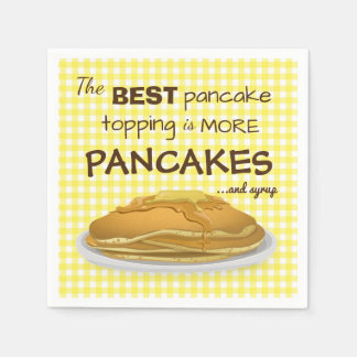 Pancakes and Syrup Topping Quote Disposable Napkin